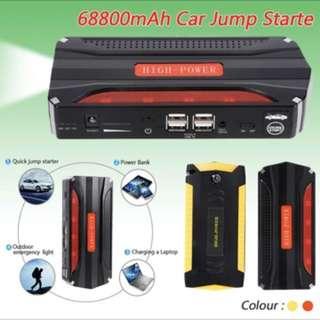 68800mAh 12V Petrol Diesel Multi-Function Car Jump Starter 4USB Power Bank SOS Light 600A Peak Car Battery  Charger