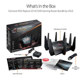 Asus ROG GT-AC5300 GT AC5300 ROG-AC5300 Tri-Band AC, 8 X Antenna and Gigabit ports, with Range boost for 5Ghz