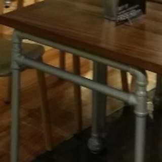 Used cafe table leg original industrial