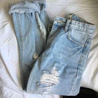Aland ripped boyfriend jeans