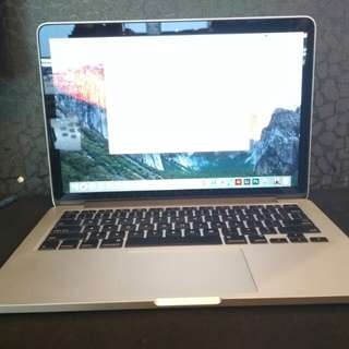 MacBook Pro 2013 retina display ram 8gb ssd 128Gb
