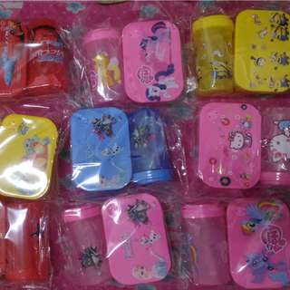 Kids tupperware cartoon set
