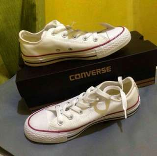 Repriced! 1,799.00!! Converse optical white shoes.