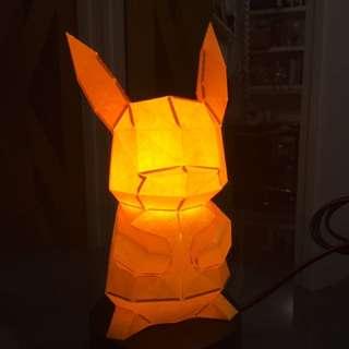 Pokémon寵物小精靈比卡超 紙摺模型小夜燈手作設計工藝品擺設