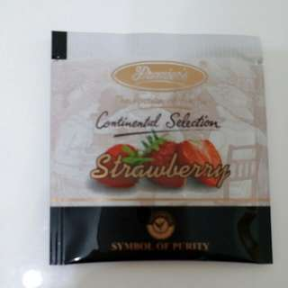 Strawberry tea bag