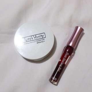 Korean Makeup Look Bundle #1 (Rucy's Vanity Two-Way Cake Powder & Etude House Darling Tint)