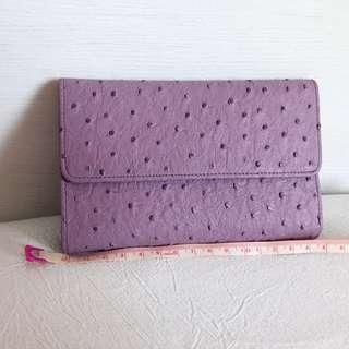 粉紫色粒粒紋多間格銀包