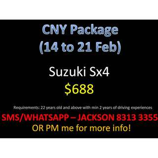 CNY Package from 14 to 21 Feb from $688 onwards *Prices have reduced!*