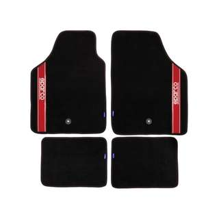 Sparco 03763BRS Carmats (Black/Red)