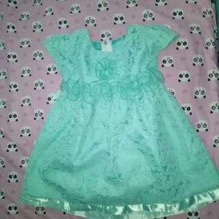 Dress hijau brokat