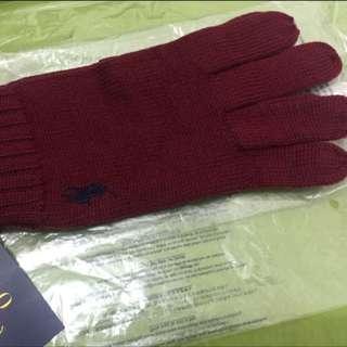 全新真品Polo Ralph Lauren 紅色冷手套❤️情人節禮物