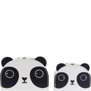 #15Off Sass & Belle Set Of 2 Aiko Panda Kawaii Friends Suitcases