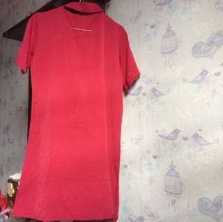 red dress chocker