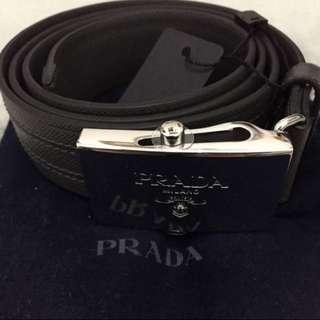 全新正品Prada 男裝皮帶 情人節禮物