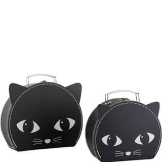 #15Off Sass & Belle Set Of 2 Black Cat Suitcases