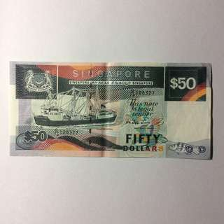 73G128327 Singapore Ship Series $50 note.