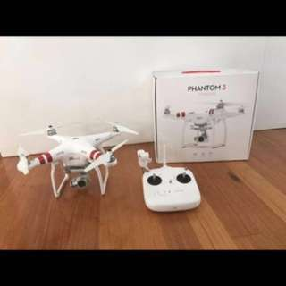 USED DJI Phantom 3 Standard with a lot of Freebies