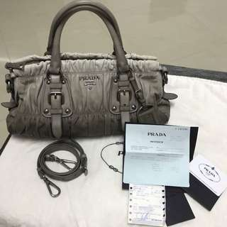 Authentic Prada Nappa Gaufre Two Tone Bag