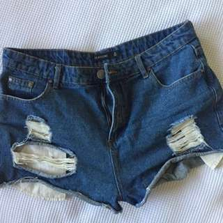 Glassons Ripped Denim Shorts