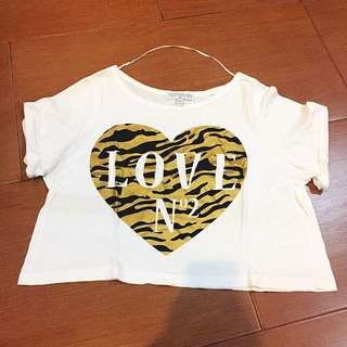Gold Heart Crop Top (Cotton On)