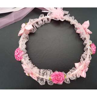 Flower Girl Head Wreath / Head Band Girls / Floral Head Wreath