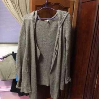 日本品牌ungrid針織罩衫/外套  原購入價4000多