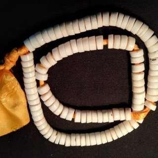 清代藏傳老轉經桶心臟尼瑪珠108