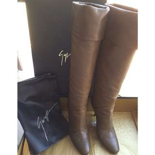 Giuseppe Zanotti    Leather Heel Boots Shoes  *Made in Italy  @Size 36
