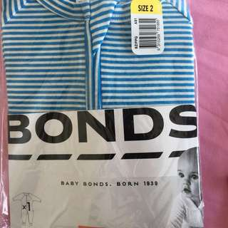 BN Bonds onesie with feet and hand cover
