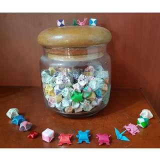 Valentine Origami Jar