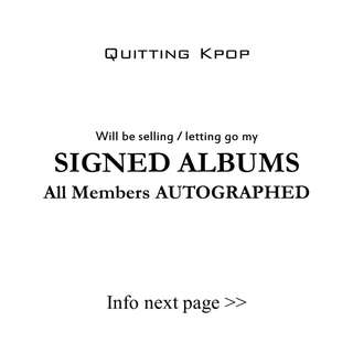 [SIGNED] KPOP ALBUMS