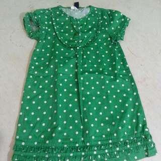 Green Polka dots dress