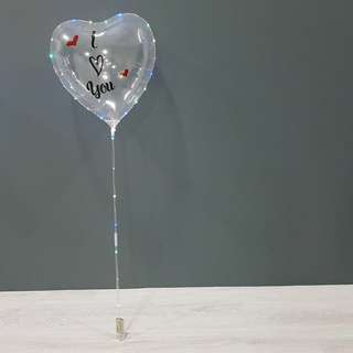 Customised LED Balloon (Available in heart shape and star shape)