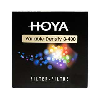 Hoya Variable ND Filter - Neutral Density ND3 to 400 (1.5 to 9 Stops)