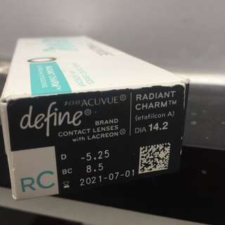 1-DAY ACUVUE DEFINE BEAUTY CONTACT LENSES RADIANT CHARM