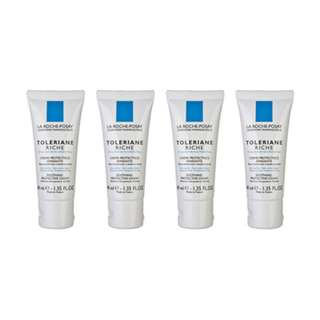 4 PCS La Roche-Posay Toleriane Riche Facial Cream (Intolerant to Dryness) 40ml