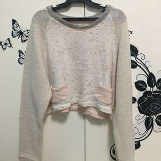 Long Sleeved Sweater Crop Top