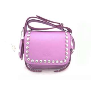 Coach bag purple pink 袋 可斜揹