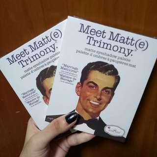 Meet matt(e) trimony, matte eyeshadow palette