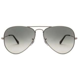 Ray Bans 3025 003/32 Silver Grey Aviator Sunglasses