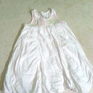 White dress with sequence