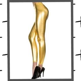 Metallic Gold Pants