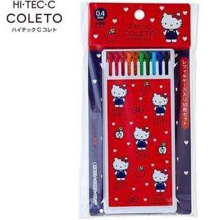 🈹日本 Pilot Sanrio 最新 蛋黃哥 / My Melody / Twin Stars / Hello Kitty HI-TEC-C Coleto 10色 0.4mm 原子筆 筆芯連盒