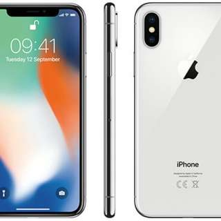 All new iPhone X 銀色64g