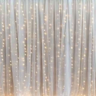 Fairy Light Backdrop Set Up