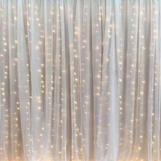 Fairy Light Backdrop Set Up