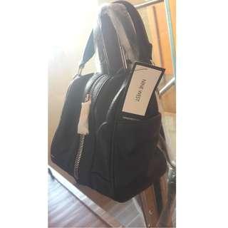 Original Nine West Square Cut Sling or Body Bag, Color Black