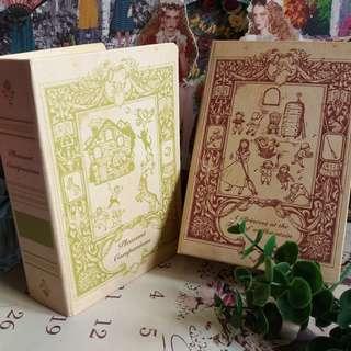🔮童話書本型收納盒 一套兩個。・☆ 私人收藏 古董市集 vintage