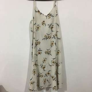 New White Floral Dress #CNY88