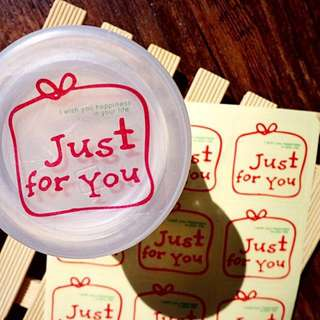 CUSTOMIZE STICKERS PRINTING / Just For You Transparent Stickers